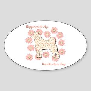 Karelian Happiness Oval Sticker