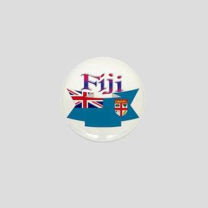 Fiji flag ribbon Mini Button