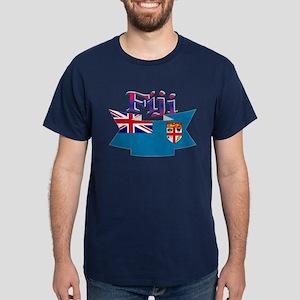 Fiji flag ribbon Dark T-Shirt