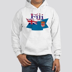 Fiji flag ribbon Hooded Sweatshirt