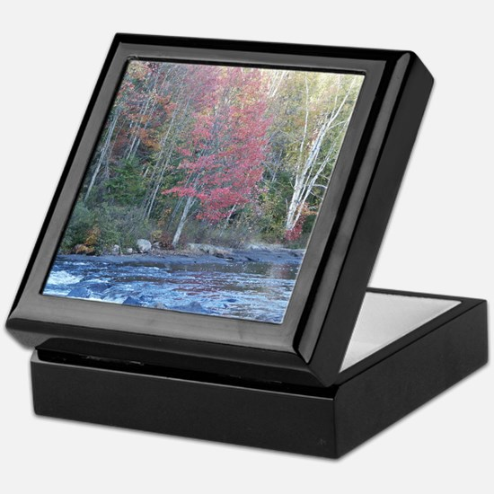 Adirondack Stream In The Fall Keepsake Box