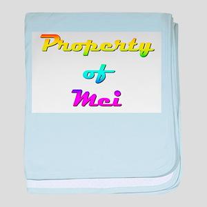 Property Of Mei Female baby blanket