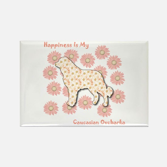 Caucasian Happiness Rectangle Magnet (10 pack)