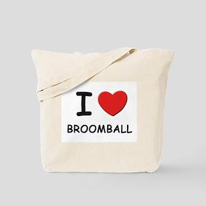 I love broomball Tote Bag