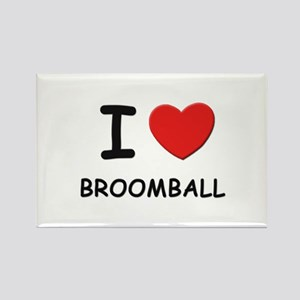 I love broomball Rectangle Magnet