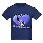 I Love Racing Siberians Kids Dark T-Shirt