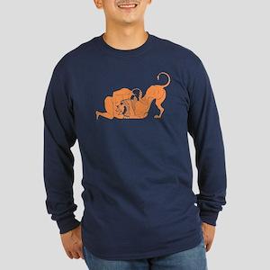 Hercules vs Lion Long Sleeve Dark T-Shirt