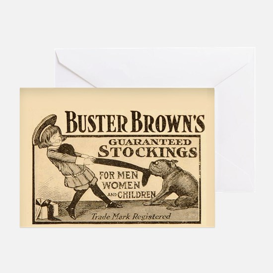 Buster Brown Greeting Card