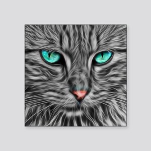 Fractal grey cat illustration Sticker