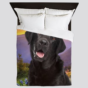 Labrador Meadow (button) Queen Duvet