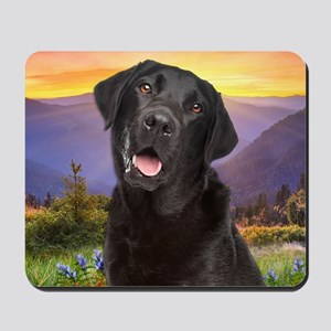 Labrador Meadow (button) Mousepad
