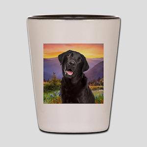 Labrador Meadow (button) Shot Glass