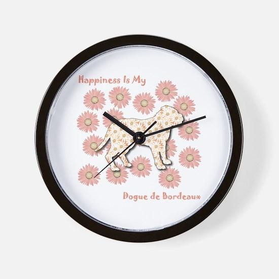 Dogue Happiness Wall Clock