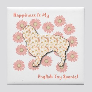 Spaniel Happiness Tile Coaster