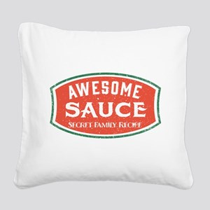 Awesome Sauce Square Canvas Pillow