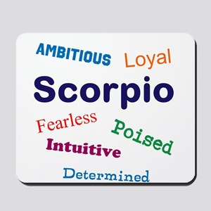 Scorpio Traits Characteristics Mousepad