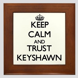 Keep Calm and TRUST Keyshawn Framed Tile