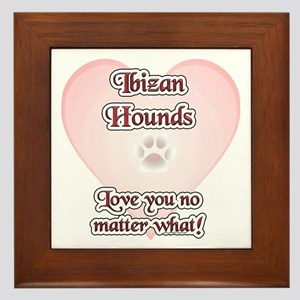 Ibizan Hound Love U Framed Tile