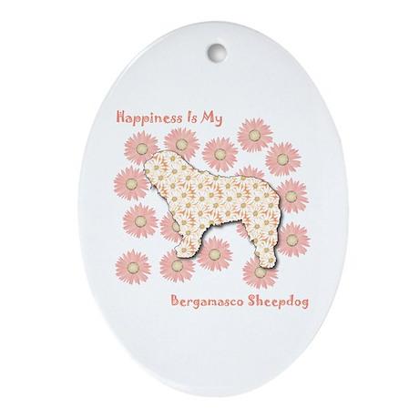 Bergamasco Happiness Oval Ornament