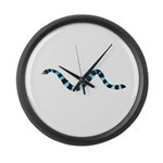 Blue Lipped Sea Krait Snake Large Wall Clock