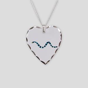 Blue Lipped Sea Krait Snake Necklace