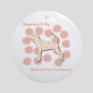 Black and Tan Happiness Ornament (Round)