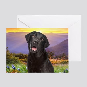 Labrador Meadow (oval) Greeting Card
