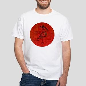 Taino Bird, Puerto Rico White T-Shirt