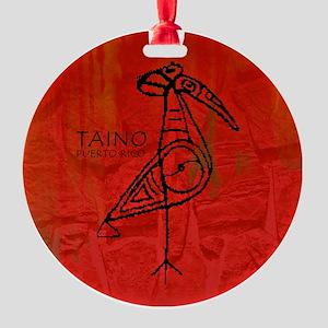 Taino Bird, Puerto Rico Round Ornament