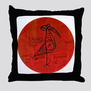 Taino Bird, Puerto Rico Throw Pillow