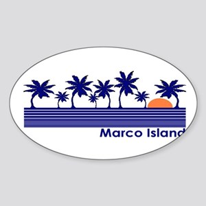 Marco Island, Florida Oval Sticker