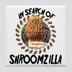 Morel insearch of Shroomzilla Tile Coaster