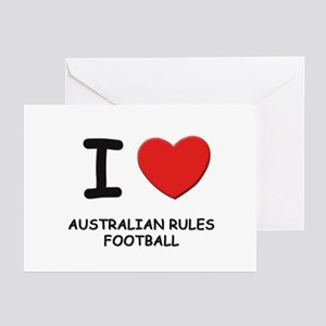 I love australian rules football  Greeting Cards (