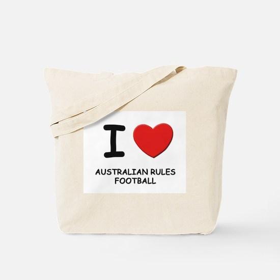 I love australian rules football Tote Bag