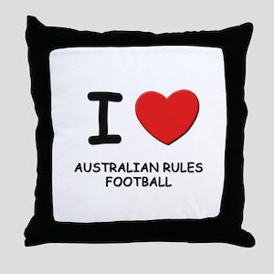 I love australian rules football  Throw Pillow
