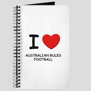 I love australian rules football Journal