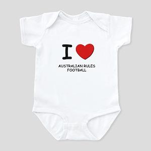 I love australian rules football  Infant Bodysuit