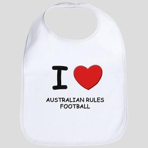 I love australian rules football  Bib