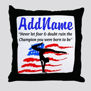 USA GYMNAST Throw Pillow