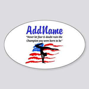 USA GYMNAST Sticker (Oval)