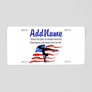 USA GYMNAST Aluminum License Plate