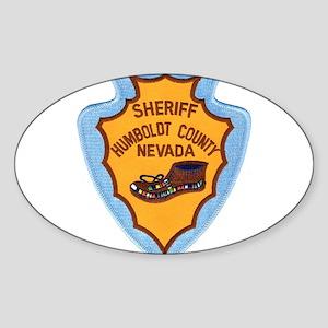 Humboldt Nevada Sheriff Oval Sticker