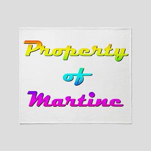 Property Of Martine Female Throw Blanket