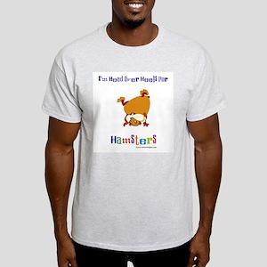 Hamster T-Shirt, Ash Grey: Head Over Heels