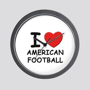 I love american football  Wall Clock