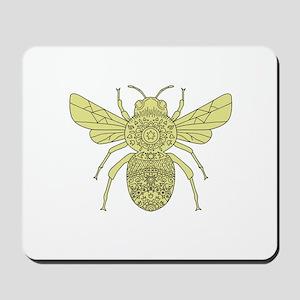 Bumble Bee Mandala Mousepad