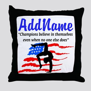 AMERICAN GYMNAST Throw Pillow