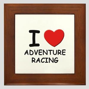 I love adventure racing  Framed Tile