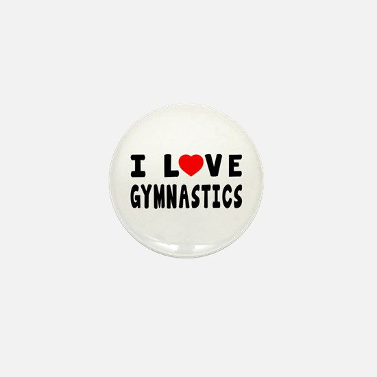I Love Gymnastics Mini Button