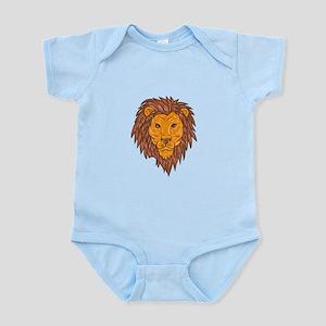 Male Lion Big Cat Head Drawing Body Suit